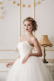 Gentle portrait of bride blonde Royalty Free Stock Photography