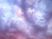 Gentle purple clouds Stock Images