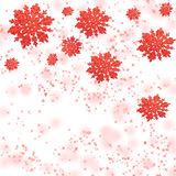 Gentle red snowflakes Royalty Free Stock Photography