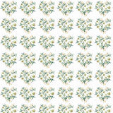 Gentle refined pattern of white beige powdery hearts lilies watercolor Royalty Free Stock Images