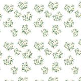 Gentle refined seamless pattern of white beige powdery hearts lilies watercolor hand sketch. Perfect for greeting cards, textile, wallpapers Stock Photos