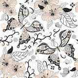 Gentle repeating floral pattern Royalty Free Stock Photo