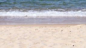 Gentle rolling waves onto sandy beach