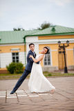 Gentle romantic bride and groom Royalty Free Stock Images