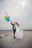 Gentle romantic bride and groom Royalty Free Stock Photography