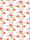 Gentle seamless cute pattern of flowers in trendy coral color stock illustration