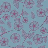 Gentle seamless pattern with abstract flowers. royalty free illustration