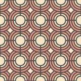 Gentle seamless pattern with abstract geometric circles. Vector illustration. Background for dress, manufacturing, wallpapers Royalty Free Stock Photos