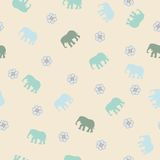 Gentle seamless pattern with elephant. Stock Photography