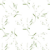 A gentle seamless pattern of twigs. Vector background of silhouettes.  Royalty Free Stock Photo