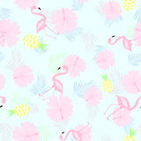 Gentle seamless tropical pattern vector vector illustration