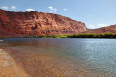 A gentle shallow on  river Colorado. Royalty Free Stock Photo