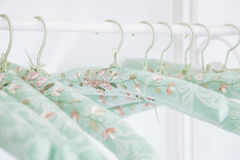 Gentle silk hangers, old romantic style Stock Images
