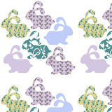 Gentle simple animals  seamless vintage pattern and seamless pat Royalty Free Stock Image