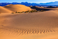 Gentle slopes of sandy barkhans Royalty Free Stock Image