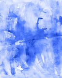 Gentle soft blue watercolor handmade  background Stock Images