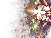 Gentle and soft fractal flowers Royalty Free Stock Images