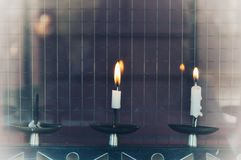 Soft light of candles royalty free stock photography
