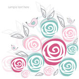 Gentle spring background with roses Stock Photo