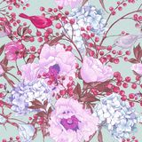 Gentle Spring Floral Seamless Background Royalty Free Stock Photos