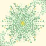 Gentle spring round floral pattern stock illustration