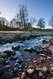 Gentle stream running through a field in winter Royalty Free Stock Photos