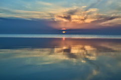 Gentle sunrise at sea landscape background.  Stock Image