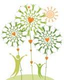 Gentle symbolic illustration. Stock Images