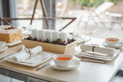 Gentle table setting royalty free stock images