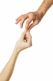 Gentle touch Stock Photos
