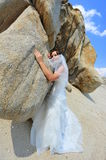 The gentle touch of a bride Stock Photography