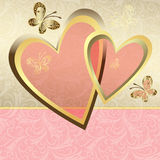 Gentle valentine frame Royalty Free Stock Images