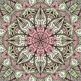 Gentle vector background with the mandala Royalty Free Stock Image