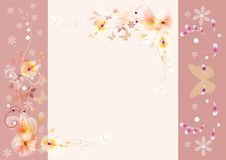 Gentle vector vintage background Stock Images