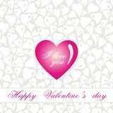 Gentle vintage valentine's day  card Royalty Free Stock Photo