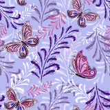 Gentle violet seamless floral pattern Royalty Free Stock Image