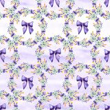 Gentle watercolor floral lavender seamless. Hand painting. Watercolor. Seamless pattern for fabric, paper and other stock illustration
