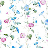 Gentle watercolor floral pattern Stock Image