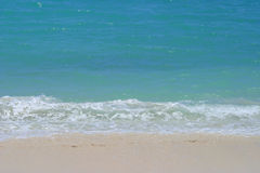 Gentle Waves On The Beach In Hawaii Royalty Free Stock Photography