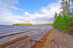 Gentle Waves on a Wilderness Lake royalty free stock images