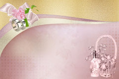 Gentle wedding background. For frames Royalty Free Stock Photos