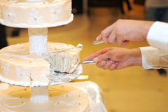 Gentle Wedding Cake Royalty Free Stock Photography