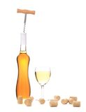 Gentle white wine composition. Stock Image