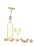 Gentle white wine composition. Royalty Free Stock Photography