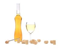 Gentle white wine composition. Royalty Free Stock Image