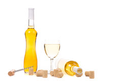 Gentle white wine composition. Royalty Free Stock Photos
