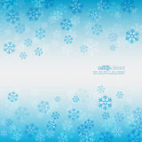Gentle winter abstract background. With falling scatter snowflakes, ice crystals and sparkles. Elegant backdrop for festive decoration stock illustration