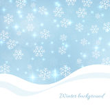 Gentle winter abstract background Stock Photos