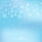 Gentle winter abstract background. With falling scatter snowflakes, ice crystals and sparkles. Elegant backdrop for festive decoration vector illustration
