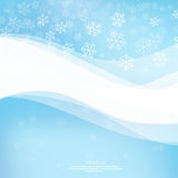 Gentle winter abstract background. With falling scatter snowflakes, ice crystals and sparkles. Elegant backdrop for festive decoration. Vector design Royalty Free Illustration